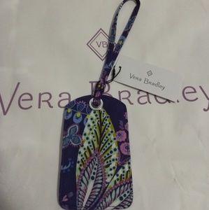 Vera Bradley Batik Leaves Luggage Tag